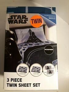 New Jay Franco Star Wars 3 Piece Microfiber Twin Sheet Set Disney