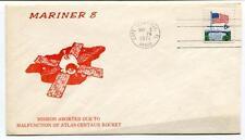 1971 Mariner 8 Mission Aborted Due Malfunction Atlas-Centaur Rocket NASA USA SAT