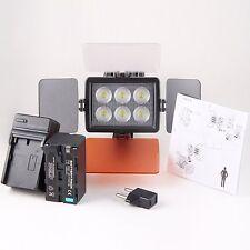 Cameraplus ® universale professionale ad alta luminosità 6 LED Luce Video + f750 BATT