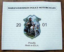 NOS 2001 HARLEY POLICE SHRINE DYNA DEFENDER PEACE BIKE MODELS BROCHURE CATALOG