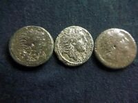 Lot of 3 uncleaned Roman Provincial coins from Koinon Macedonia   AC0133