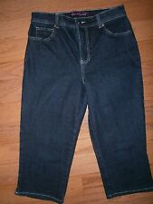 EUC Womens Gloria Vanderbilt Amanda Cropped Capri Jeans 8 Mid rise Stretch