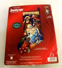 "2004 Janlynn Christmas O'Holy Night 18"" Counted Cross Stitch Stocking  023-0211"