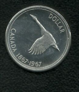 CANADA 1 DOLLAR 1867/1967 SILVER