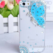 Bling Diamond crystal butterfly clear ultra-thin Soft TPU back case skin cover D