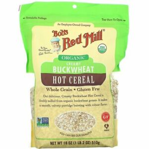 Bob's Red Mill, Organic Creamy Buckwheat Hot Cereal, Whole Grain, 18 oz (510 g)