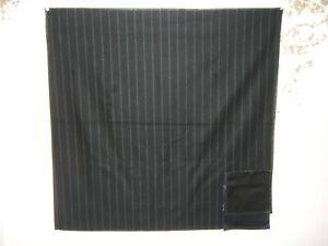 """Ralph Lauren, Niven Chalk Stripe, Remnant, 27.50"""" W X 27"""" L, Color Black"""