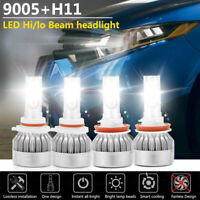 9005 H11 LED Headlight Kit Hi/Lo Beam Bulbs for Toyota Camry 07-17 Sienna 11-17