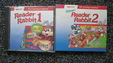 Lot of 2 Learning Company CDs: Reader Rabbit 1 & Reader Rabbit 2 Deluxe