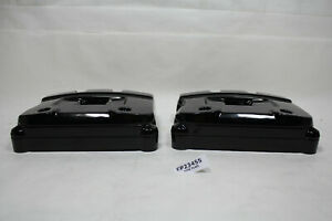 Harley Evo Big Twin rocker box covers powdercoated BLACK FXR FL Softail EPS23455