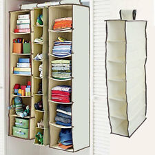 6 Shelf Hanging Wardrobe Section Storage Closet Organiser Shoe Clothes Garment