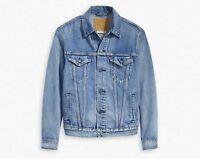Levis Mens Premium Vintage Fit Trucker Jacket Lite- Light Blue Wash 773800002