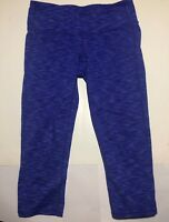 Womens Athleta Leggings Size Small S Cropped Capri Workout Gym Blue Purple