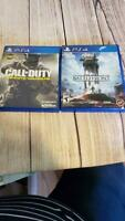 PS4 Lot of 2 Video Games Call of Duty Infinite Warfare & Star Wars Battlefront