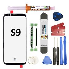 Samsung Galaxy S9 OEM G960 Black Glass Lens Screen Replacement Loca UV Glue Tool