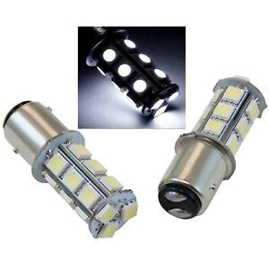 1157 White 18 SMD LED 12V Tail Light Rear Brake Stop Turn Signal Lamp Bulbs PAIR