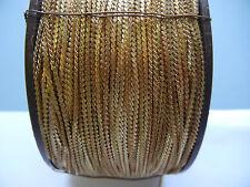 "12 feet of vtg. solid brass finishd chain on spool gold plate ""S"" design 1.25mm"