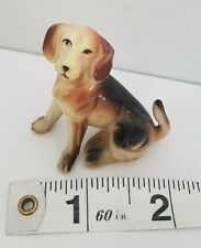 "A10 Vintage Miniature Plastic Beagle Dog Dollhouse Miniatures Dogs ""Hong Kong"""