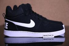 Nike Court Borough Mid Top Prem Black White 838938 010 Size 11.5