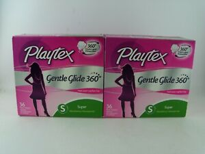 2 x 36-Count Box Playtex Gentle Glide 360 Fresh Scent Super Tampons, (72 TOTAL!)
