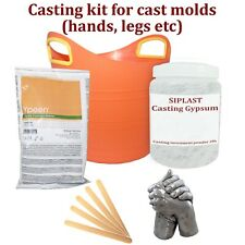 SIPLAST Hands Casting Kit Mom Baby Plaster Hand Mold Couples Wedding Prints