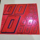 PINK CHROME w/Black & Blue #0's Decal Sticker Sheet 1/8-1/10-1/12 RC Models