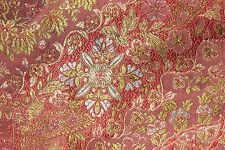 French Museum Deaccessioned Antique 19thC Persian Silk Brocaded Lampas Fabric