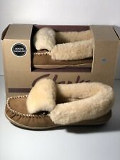 Clarks Indoor/outdoor Slippers Genuine Shearling New Size 10m