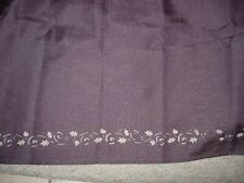 Fall Tablecloth -Solid Brown-Open Design Edge-+ 8 Napkins-#R19