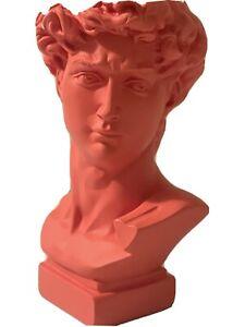 GoGift Pink Greek Statue Head Planter Pot Flower Vase Desktop
