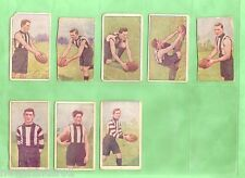1920 AUSTRALIAN FOOTBALLERS MAGPIE CIGARETTE  CARDS  FOR COLLINGWOOD