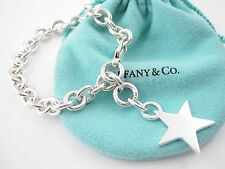 Tiffany & Co Silver Star Charm Bracelet Bangle!