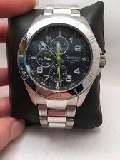 Men's Armitron 20/4810GNSV Green Accent Stainless Steel Quartz Dress Watch-h77