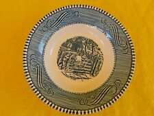 Currier and Ives Blue by Royal DESSERT BOWL have more items to set