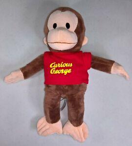 Curious George w/ Shirt - 16in. Stuffed/Plush Monkey - Universal Studios/Gund