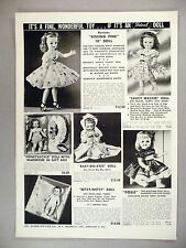 Ideal Doll CATALOG AD PAGE - 1957 ~ dolls, Kissing Pink, Saucy Walker, Posie