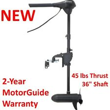 Motor Guide Electric Trolling Motor 45 lb Fishing Row Jon V-Hull Boat 940100150