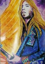 Tom petty Hand Painted Original Oil ink Painting Famous Musician Guitar