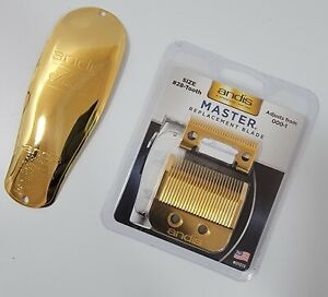 🏆 REAL 24K GOLD PLATED Andis Master Replacement Blade & Cover Bundle 🏆