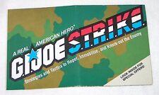 GI JOE Vintage 1986 figure/vehicle original brochure catalog STRIKE S.T.R.I.K.E.
