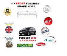 pour Peugeot 3008 1.6 VTI 2009- > 1x AVANT Flexible caoutchouc Durite de frein