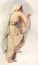 SOCIETY. Study for holiday dress of Syrian women 1902 old antique print