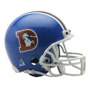 Denver Broncos 1975-1996 75-96 Throwback VSR4 Riddell Mini Helmet New in box