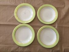 Vintage Pyrex Lime Green With Gold Trim Bread Or Dessert Plate Set Of 4 C