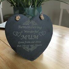 Beautiful 15cm Slate Heart Hanging Plaque