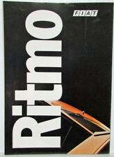 1978-1983 Fiat Ritmo Sales Folder Poster - French Text