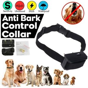 Automatic Anti Bark Barking Shock Control Collar Device Small Medium Large Dog