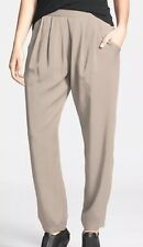 Eileen Fisher Stone Lightweight Tencel Twill Pleated Slouchy Pants S/P $178