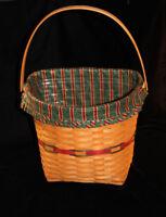 Longaberger 1998 Red Holiday Hostess Winter Wishes Basket Combo