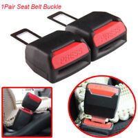2pcs Universal Car Safety Seat Belt Buckle Extension Extender Clip Alarm Stopper